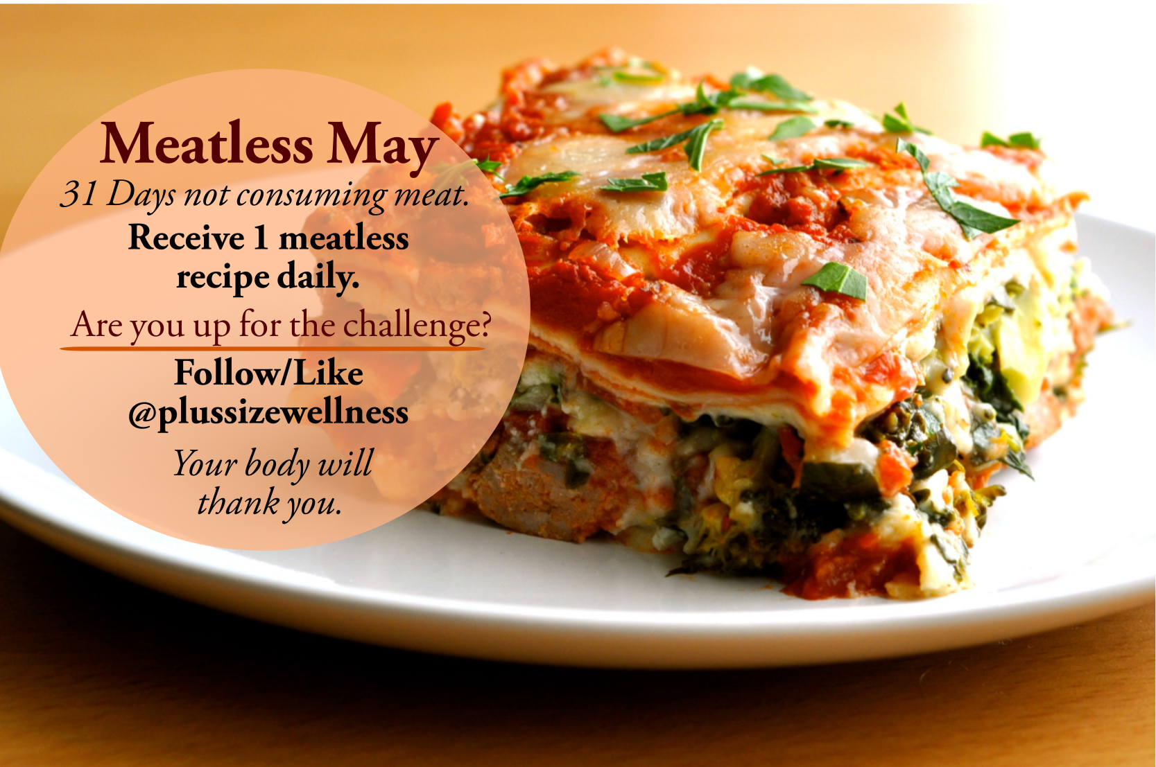 Plus Size Wellness Meatless May Challenge